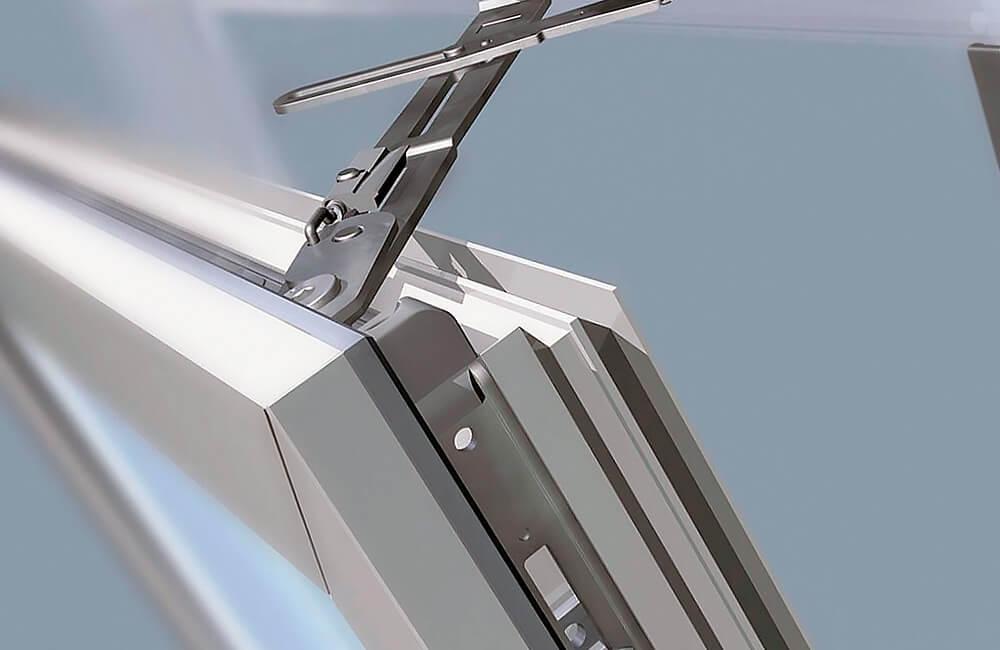 Регулировка откидного механизма открывания окна